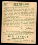 1934 Goudey #67  Bob Weiland  Back Thumbnail
