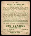 1933 Goudey #239  Leroy Parmelee  Back Thumbnail
