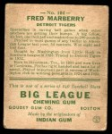 1933 Goudey #104  Fred Marberry  Back Thumbnail
