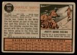 1962 Topps #283  Charlie Smith  Back Thumbnail