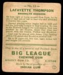 1933 Goudey #13  Lafayette Thompson  Back Thumbnail