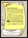 1988 Pacific Legends #107  Zoilo Versalles  Back Thumbnail
