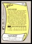 1988 Pacific Legends #13  Clete Boyer  Back Thumbnail