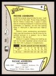 1988 Pacific Legends #8  Richie Ashburn  Back Thumbnail