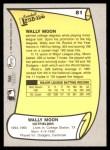 1988 Pacific Legends #81  Wally Moon  Back Thumbnail