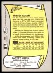 1988 Pacific Legends #56  Harvey Kuenn  Back Thumbnail