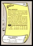 1988 Pacific Legends #10  Phil Rizzuto  Back Thumbnail