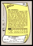 1988 Pacific Legends #98  Del Crandall  Back Thumbnail
