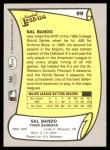 1988 Pacific Legends #99  Sal Bando  Back Thumbnail