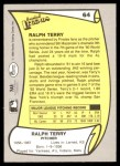 1988 Pacific Legends #64  Ralph Terry  Back Thumbnail