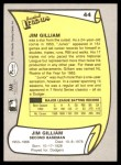1988 Pacific Legends #44  Jim Gilliam  Back Thumbnail