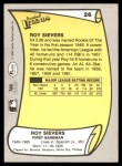 1988 Pacific Legends #26  Roy Sievers  Back Thumbnail