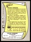 1988 Pacific Legends #17  Frank Howard  Back Thumbnail