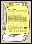 1988 Pacific Legends #32  Bob Lemon  Back Thumbnail