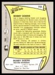 1988 Pacific Legends #73  Bobby Doerr  Back Thumbnail