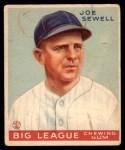 1933 Goudey #165  Joe Sewell  Front Thumbnail