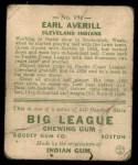 1933 Goudey #194  Earl Averill  Back Thumbnail