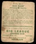 1933 Goudey #206  Gus Suhr  Back Thumbnail