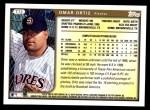1999 Topps Traded #72 T Omar Ortiz  Back Thumbnail