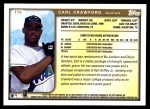 1999 Topps Traded #75 T Carl Crawford  Back Thumbnail