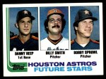 1982 Topps #441   -  Bobby Sprowl / Billy Smith / Danny Heep Astros Rookies Front Thumbnail