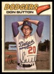 1977 Topps Cloth Stickers #47  Don Sutton  Front Thumbnail