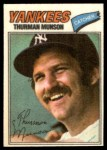 1977 Topps Cloth Stickers #32  Thurman Munson  Front Thumbnail