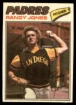 1977 Topps Cloth Stickers #23  Randy Jones  Front Thumbnail