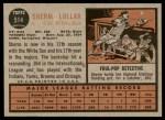 1962 Topps #514  Sherm Lollar  Back Thumbnail