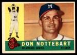 1960 Topps #351  Don Nottebart  Front Thumbnail
