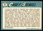 1965 Topps #187  Casey Stengel  Back Thumbnail