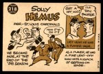 1960 Topps #218  Solly Hemus  Back Thumbnail