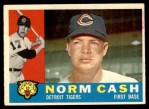 1960 Topps #488  Norm Cash  Front Thumbnail