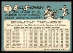 1965 Topps #70  Bill Skowron  Back Thumbnail