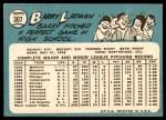 1965 Topps #307  Barry Latman  Back Thumbnail