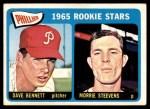 1965 Topps #521   -  Morrie Steevens / Dave Bennett Phillies Rookies Front Thumbnail