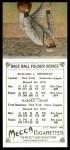 1911 T201 Mecca Reprint #6  Hal Chase / Ed Sweeney  Back Thumbnail