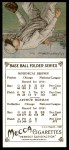 1911 T201 Mecca Reprint #5  Mordecai Brown / Solly Hofman  Back Thumbnail