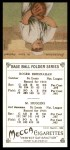 1911 T201 Mecca Reprint #21  Miller Huggins / Roger Bresnahan  Back Thumbnail