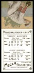 1911 T201 Mecca Reprint #35  Christy Mathewson / Al Bridwell  Back Thumbnail