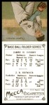 1911 T201 Mecca Reprint #41  Cy Seymour / Jimmy Dygert  Back Thumbnail
