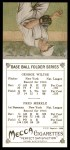 1911 T201 Mecca Reprint #49  Hooks Wiltse / Fred Merkle  Back Thumbnail