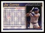 1998 Topps #145  Joe Carter  Back Thumbnail