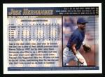 1998 Topps #234  Jose Hernandez  Back Thumbnail