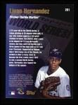1998 Topps #281   -  Livan Hernandez World Series Back Thumbnail