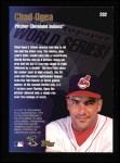 1998 Topps #282   -  Chad Ogea World Series Back Thumbnail