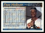 1998 Topps #349  Fred McGriff  Back Thumbnail