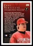 1998 Topps #476   -  Curt Schilling Season Highlights Back Thumbnail