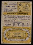 1974 Topps #146  Marty Domres  Back Thumbnail