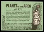 1969 Topps Planet of the Apes #35   Ape City Back Thumbnail